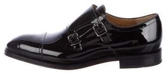 Salvatore Ferragamo Patent-Leather Monk Strap Shoes w/ Tags