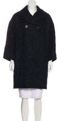 Balenciaga Bouclé Wool-Blend Coat