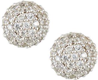 Ippolita 18K Gold Stardust 6mm Round Stud Earrings with Diamonds