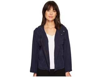 Vince Camuto Bell Sleeve Relaxed Hooded Tencel Crop Jacket Women's Coat