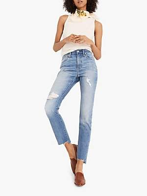 Madewell High Rise Slim Boy Jeans, Lita Wash