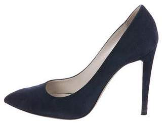 Giorgio Armani Suede Pointed-Toe Pumps