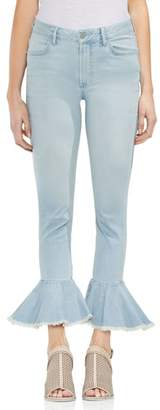 Vince Camuto Ruffle Hem Ankle Jeans