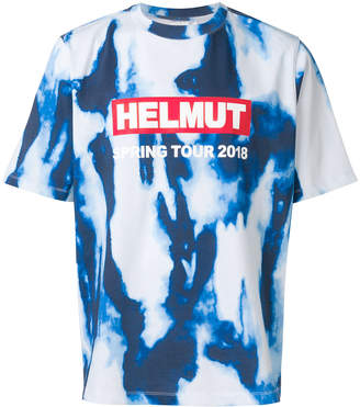 Helmut Lang washed out logo T-shirt