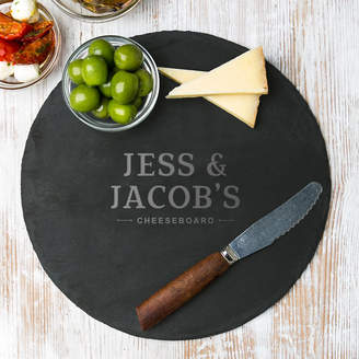 Dust and Things Personalised Couple's Round Cheese Board
