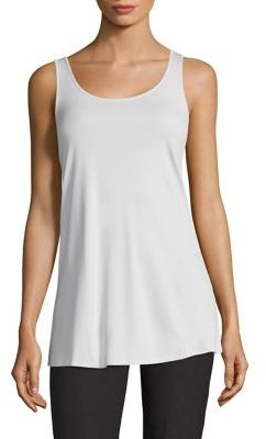 Eileen Fisher Silk Jersey Tank Top $148 thestylecure.com