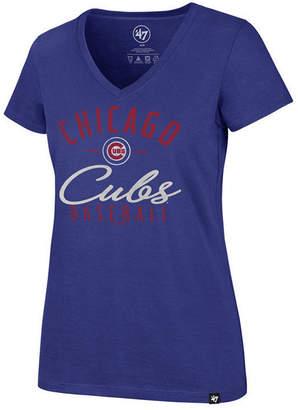 '47 Women's Chicago Cubs Ultra Rival Metallic Script T-Shirt