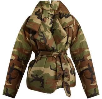 Norma Kamali Camouflage Print Sleeping Bag Coat - Womens - Camouflage