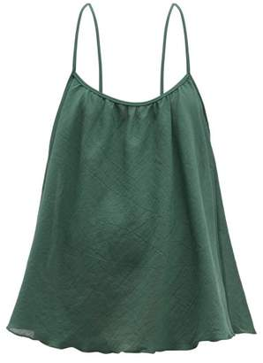 Loup Charmant Scoop Cotton Matelasse Cami Top - Womens - Green