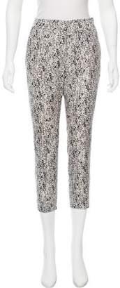 Halston High-Rise Printed Pants