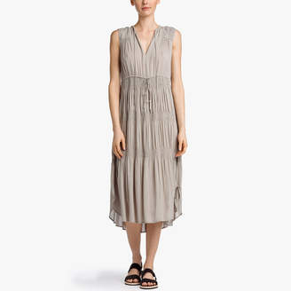 James Perse Pleated Chiffon Dress