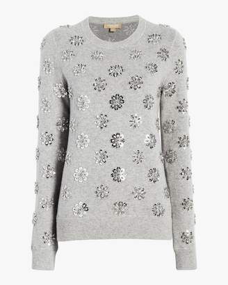 Michael Kors Floral Embroidered Crewneck Sweater