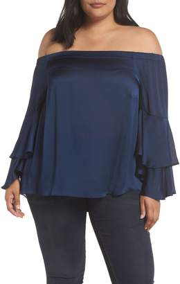 Vince Camuto Bell Sleeve Off the Shoulder Blouse