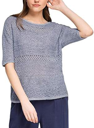 Esprit edc by Women's Structure Sweat Plain Long Sleeve Jumper,(Manufacturer Size:Small)