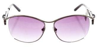 Judith Leiber Tinted Jewel-Embellished Sunglasses w/ Tags