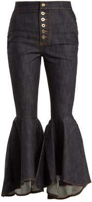 Ellery - Hysteria High Rise Kick Flare Jeans - Womens - Navy