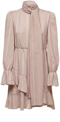 See by Chloe High Neck Ruffle Dress