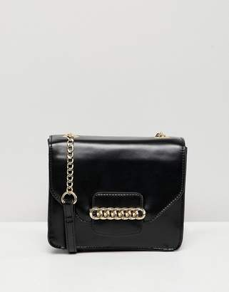 Asos DESIGN cross body bag with chain detail