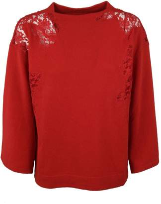 Ermanno Scervino See-Through Shoulder Sweatshirt