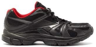 Vetements X Reebok Spike Runner 200 Mesh Trainers - Mens - Black