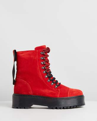 Bronx Rifka Super Chunky Leather Ankle Boots