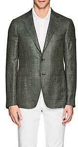 Isaia Men's Cortina Wool-Blend Two-Button Sportcoat-Green