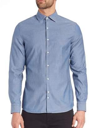 J. Lindeberg Men's Slim-Fit Button-Up Shirt