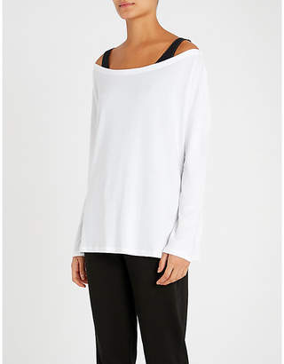 The White Company Boat-neck jersey top