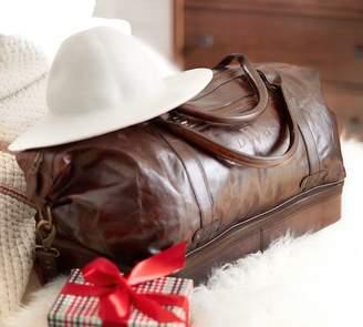 Pottery Barn Saddle Leather Weekender Bag