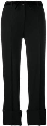 Ann Demeulemeester cropped roll-up trousers
