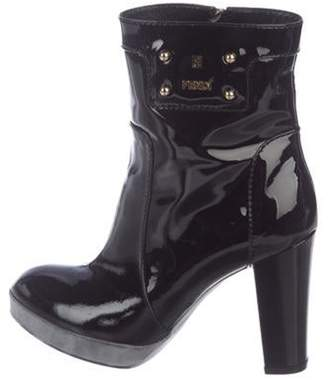 Fendi Patent Ankle Boots Black Patent Ankle Boots