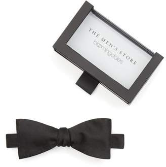 Bloomingdale's The Men's Store at Solid Satin Self-Tie Bow Tie