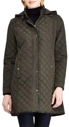 Lauren Ralph Lauren Quilted Hooded Coat