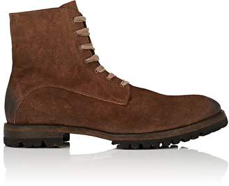 Elia Maurizi Men's Lug-Sole Oiled Suede Boots