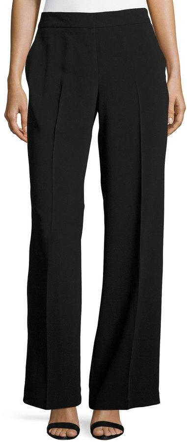 Trina Turk Mel Wide-Leg Pants, Black