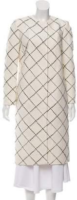 Oscar de la Renta Patterned Wool Coat
