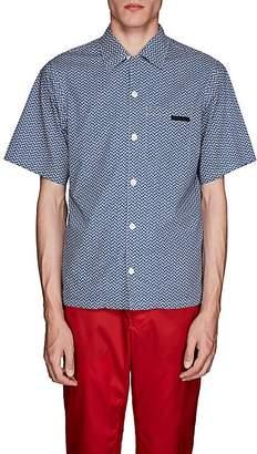 Prada Men's Geometric Cotton Bowling Shirt