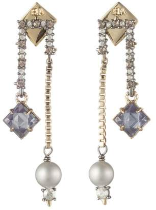 Alexis Bittar Dangling Stone And Pearl Post Earring
