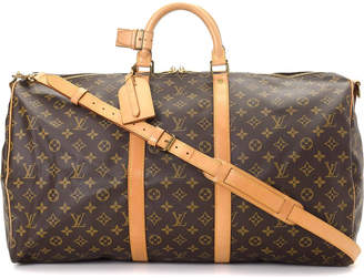 Louis Vuitton Monogram Keepall 55 Bandouliere Travel Bag - Vintage