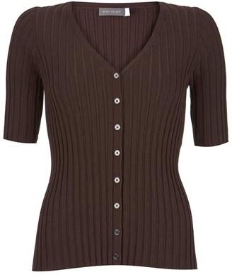 Mint Velvet Chocolate Ribbed Cardigan