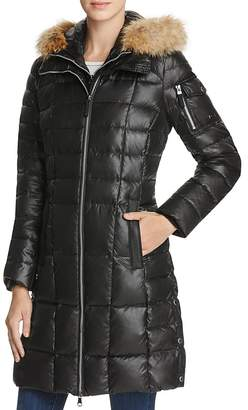 Marc New York Lindsay Fur Trim Down Coat $375 thestylecure.com