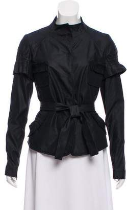 Christian Lacroix Ruffle-Accented Stand Collar Jacket