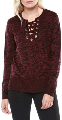 Dex Long-Sleeve Lace-Up Sweater