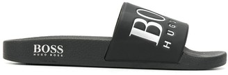 HUGO BOSS logo pool slides
