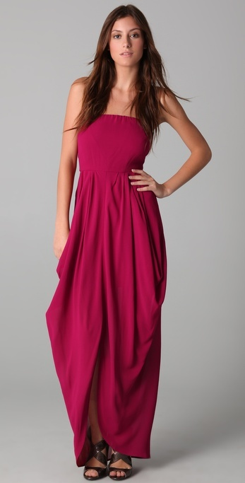 Twelfth St. By Cynthia Vincent Strapless Drape Dress