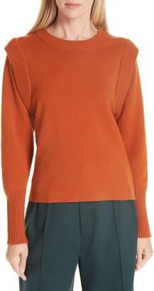 Sea Rib Trim Milano Knit Sweater