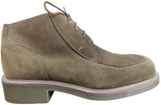Dr. Martens Green Suede Boots
