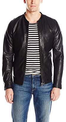 Scotch & Soda Men's Classic Slim Fit Jacket in Leather Quality
