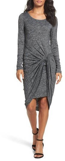 Women's Adrianna Papell Jaspee Knot Midi Dress