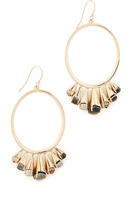 Alexis Bittar Arrayed Stone Cluster Wire Earrings $255 thestylecure.com